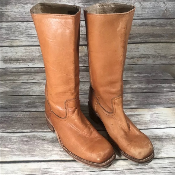 63399106483b8 Vintage Frye Boots Campus Square Toe Boots